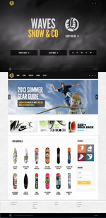 Waves and Snow Accessories Website Template