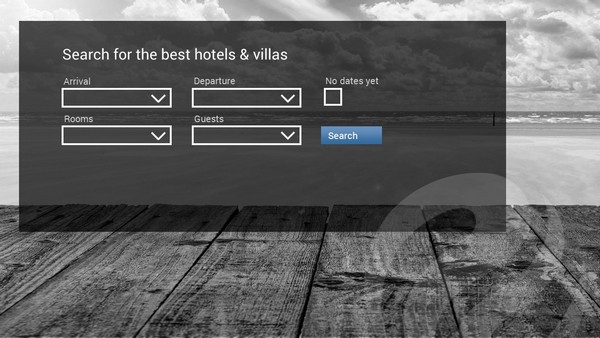 Hotel and Car Booking portal website with availability check on front-page